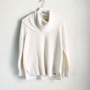 Michael Michael  Kors Cream Knit Cowl Neck Sweater